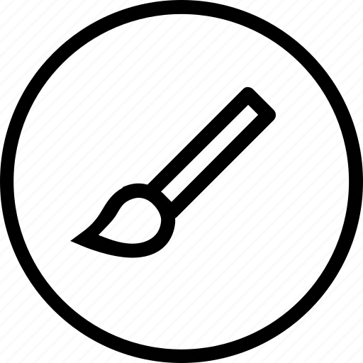 brush, interface, paint, tool icon