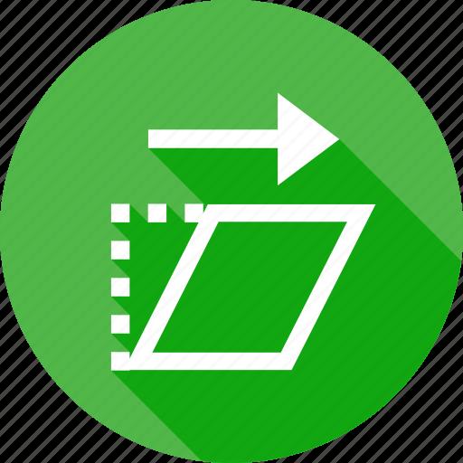 angle, change, interface, position, rotate, shear, transform icon