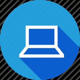 laptop, screen, square, user, windows icon