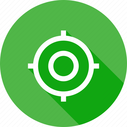 circle, fix, interface, mission, shoot, target icon