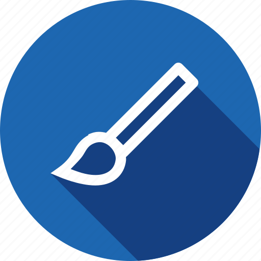 brush, interface, paint, tool icon
