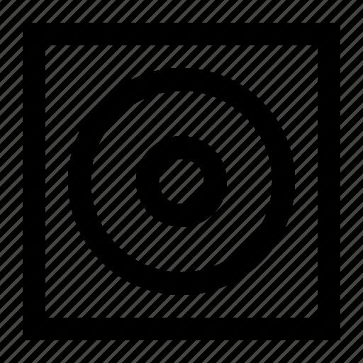 board, circle, display, illusion, interface, screen, square icon