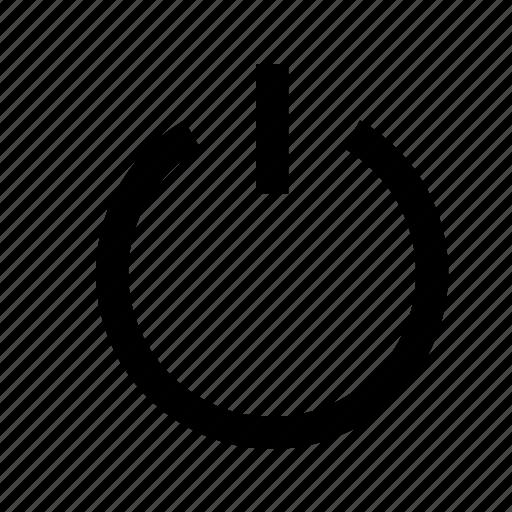 close, off, power, shut, shutdown, switch icon