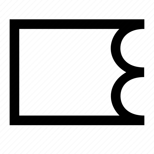 brush, interface, scallop, shape, tool icon