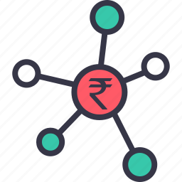 business, currency, finance, funds, investment, links, rupee icon