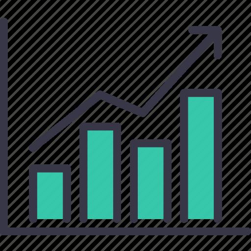 analysis, business, chart, growth, market, statics, upwards icon