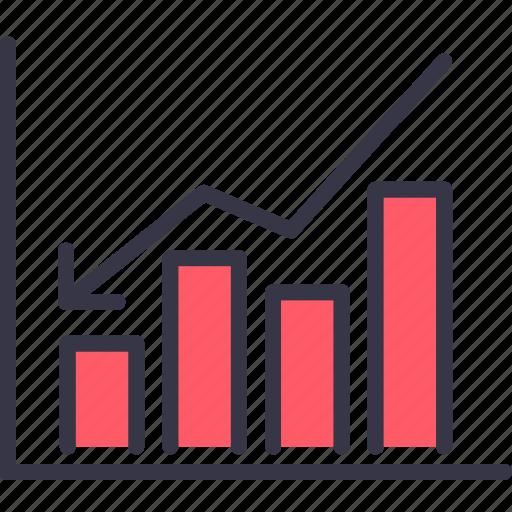 analysis, business, chart, downfall, loss, market, statics icon