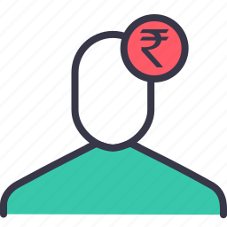 businessman, currency, finance, indian, money, rupee, user icon