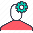 avatar, employee, gear, optimization, preferences, settings icon