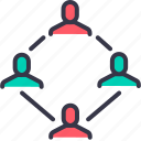 account, company, connection, group, link, men, structure icon