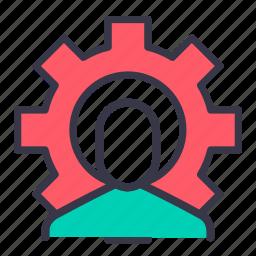 account, avatar, configure, optimization, profile, settings, user icon