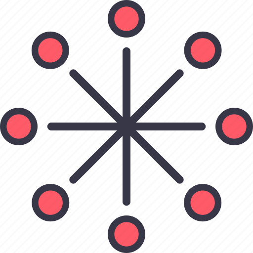 communication, connection, link, network, node, seo icon