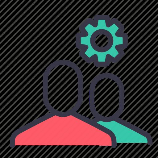 configure, employee, gear, men, optimization, preferences, setting icon