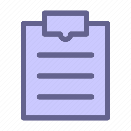 clipboard, interface, note, report, web icon icon