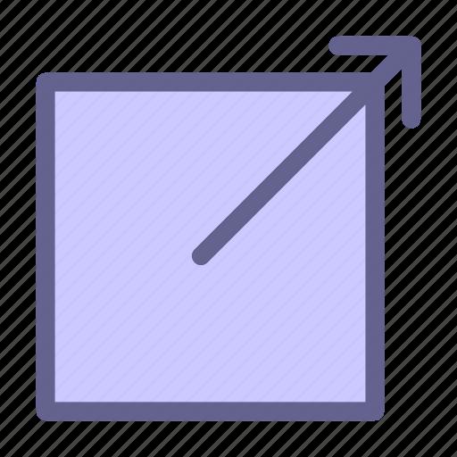 interface, link, outcoming, web icon icon