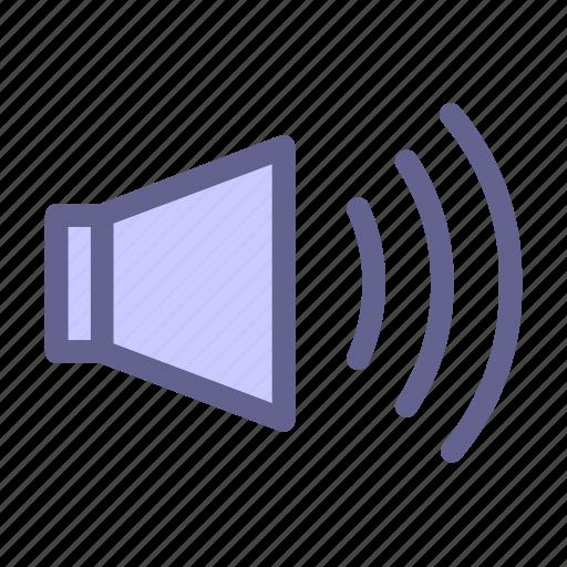interface, media, on, sound, web icon icon