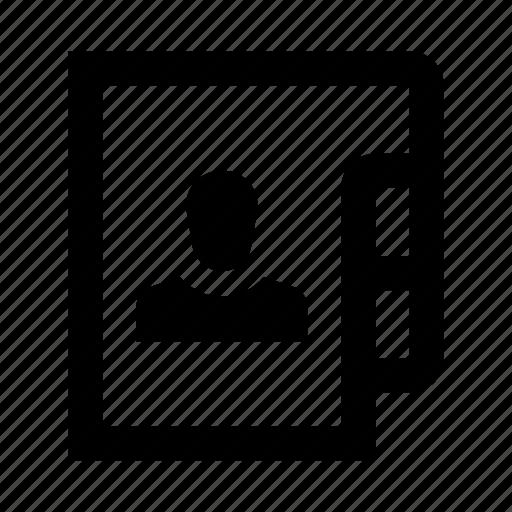 account, dossier, folder, person, profile, user icon