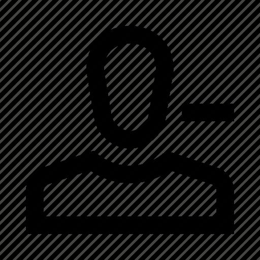 account, delete, human, person, profile, user icon