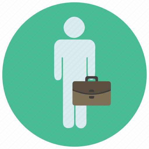 account, avatar, business, suitcase, user icon