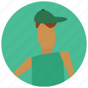 account, avatar, cap, man, user icon