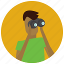 avatar, binoculars, search, user icon