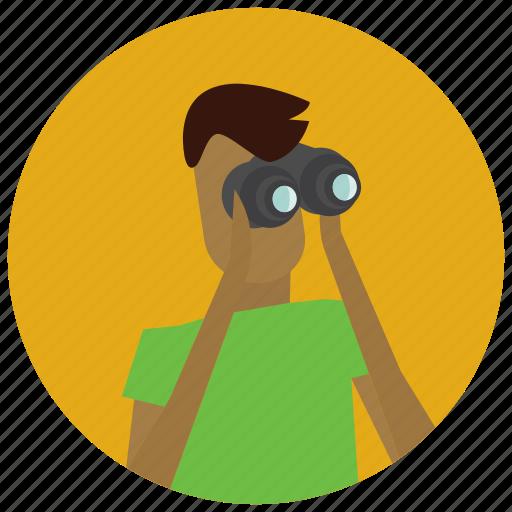 avatar, binoculars, search, user icon