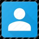 squere, user icon
