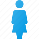 female, peson, sign, user icon