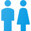 female, male, sign, toilet, user, wc icon