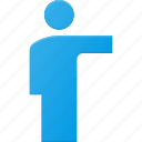 man, person, pointing, show, sign, user icon