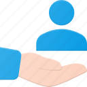 care, hold, support, user icon