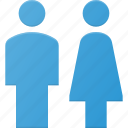 avatar, female, male, sign, toilet, user, wc icon