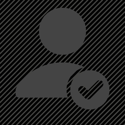account, check, people, profile, user icon