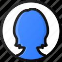 female, user, circle, account, profile, avatar