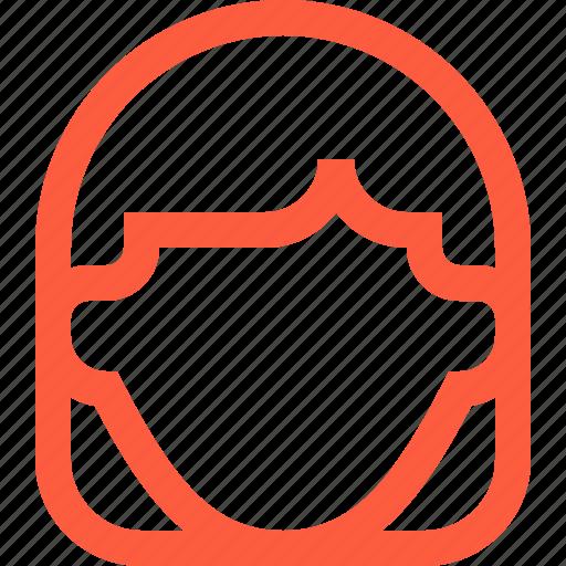 avatar, female, girl, head, profile, user, woman icon