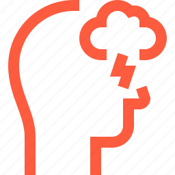 activity, brainstorm, cloud, head, process, think, user icon