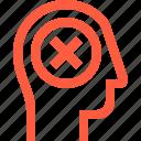 cancel, contact, disable, error, fail, head, profile, user icon