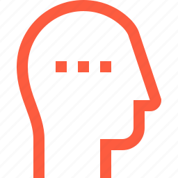 contact, function, head, process, progress, user, work icon