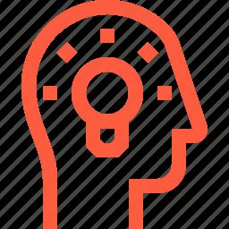 bulb, creativity, eureka, head, idea, inspiration, light, user icon