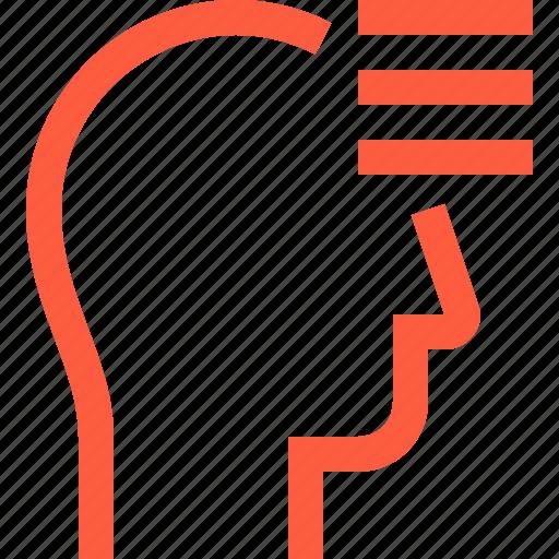 functions, head, list, menu, options, profile, user icon