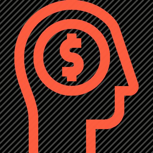 Cost, fee, head, money, reward, salary, user icon - Download on Iconfinder
