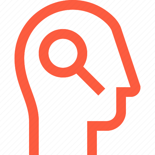 contact, head, profile, scan, search, spy, user icon