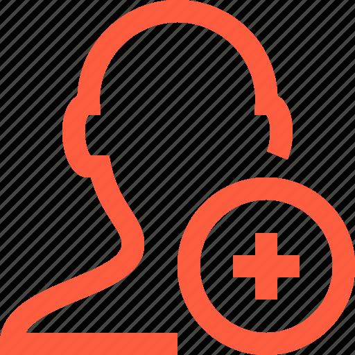add, create, male, new, plus, profile, user icon