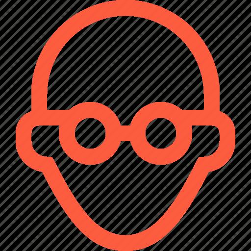 Bald, glasses, male, man, professor, profile, tutor icon - Download on Iconfinder