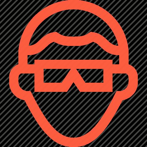 glasses, male, man, nerd, profile, user, userpic icon