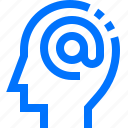 at, careers, contact, email, head, sign, users icon