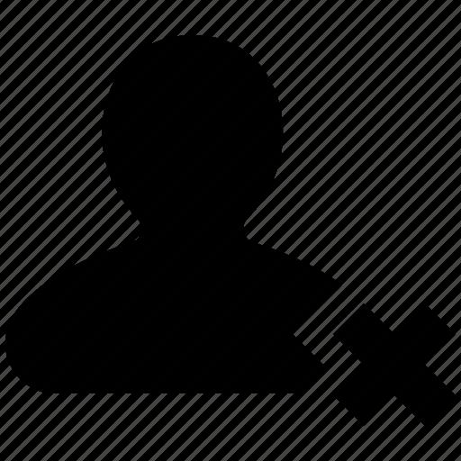 people, person, profile, remove, user icon