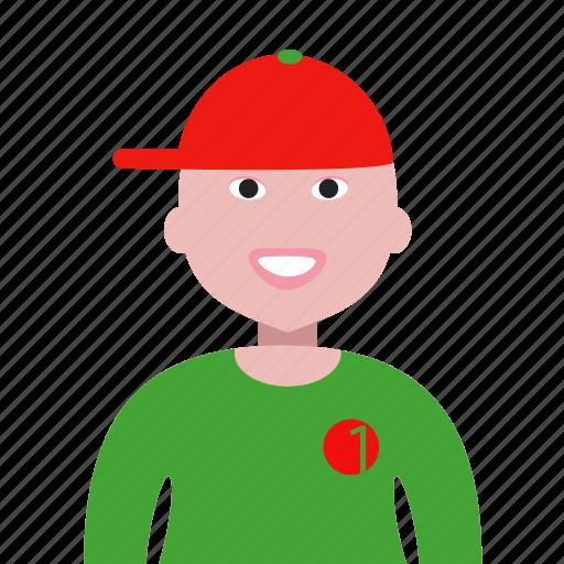 account, avatar, cap, male, man, person, profile, user icon