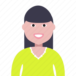 account, avatar, chinese, people, person, profile, woman icon