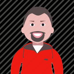 account, avatar, beard, boy, man, people, profile, team, user icon